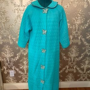 Blue vintage quilted robe